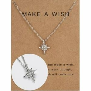 MAKE A WISH UPON A STAR crystal necklace NEW